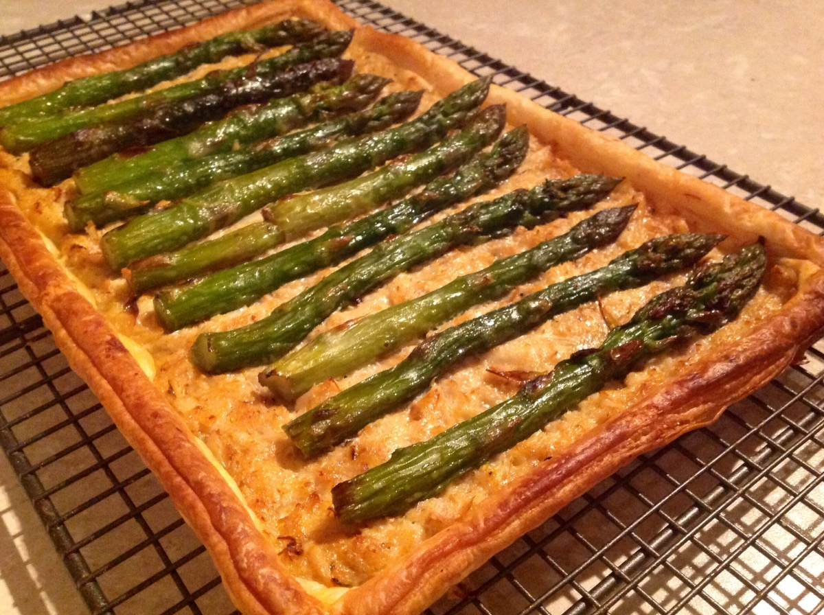 Simple Crab & Asparagus Tart
