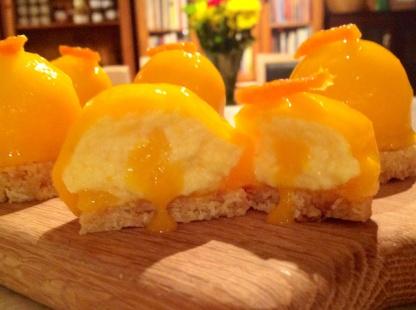 Mango & Passion Fruit Cheesecakes