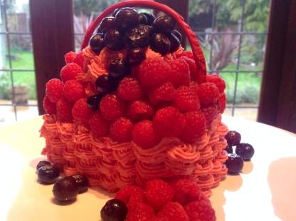 Fruit Punnet Madeira Cake