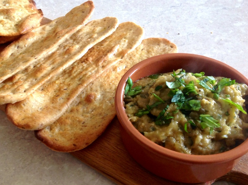 Baba ghanoush & flatbreads