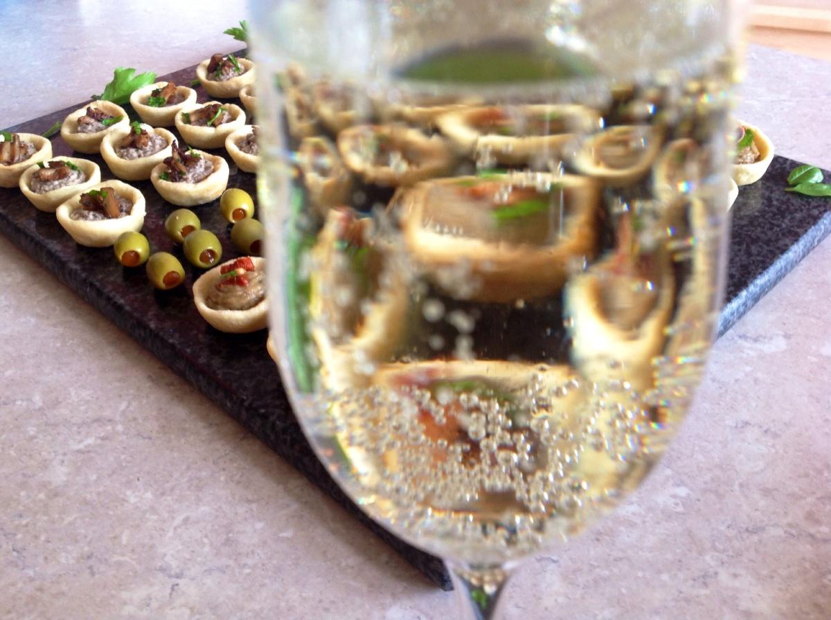 Canapé selection: mushroom; smokedaubergine