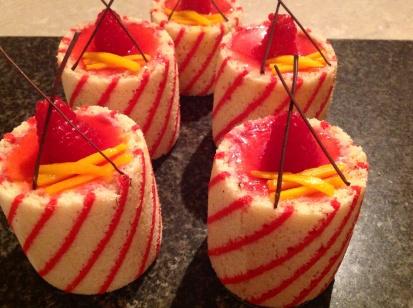 Joconde imprime mousse cakes