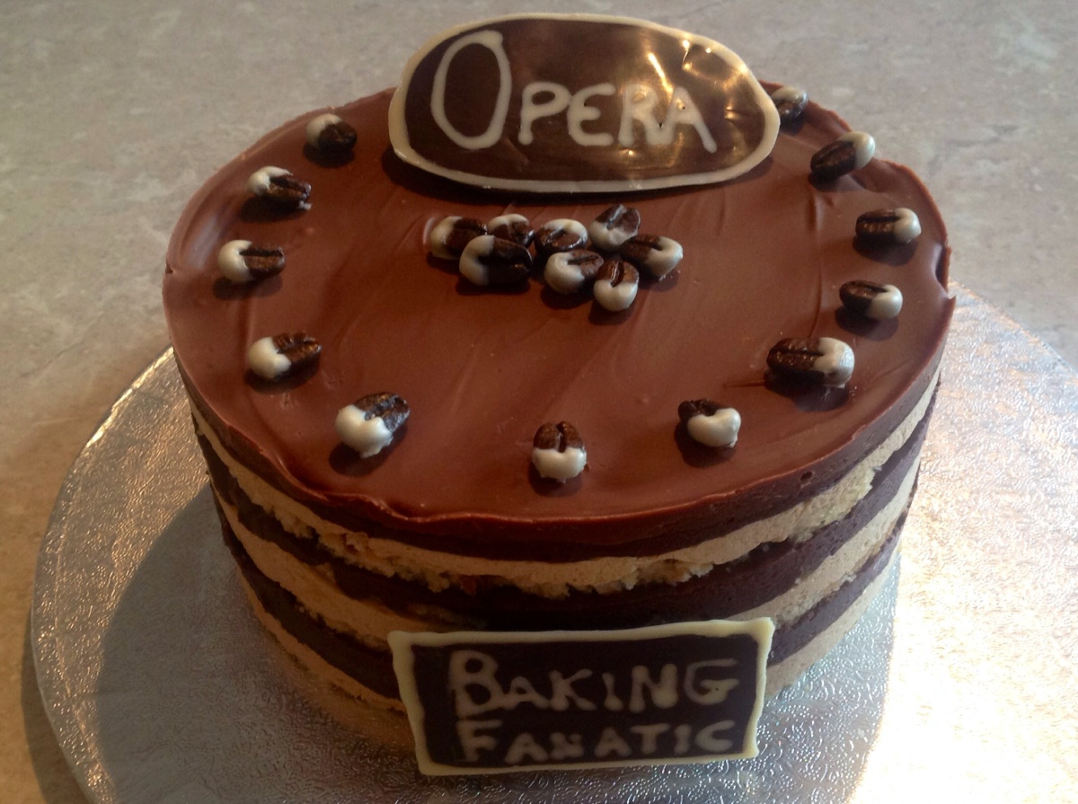 Opera Gateau: coffee, chocolate & rum flavour