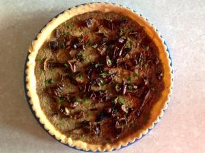 Wild mushroom tart