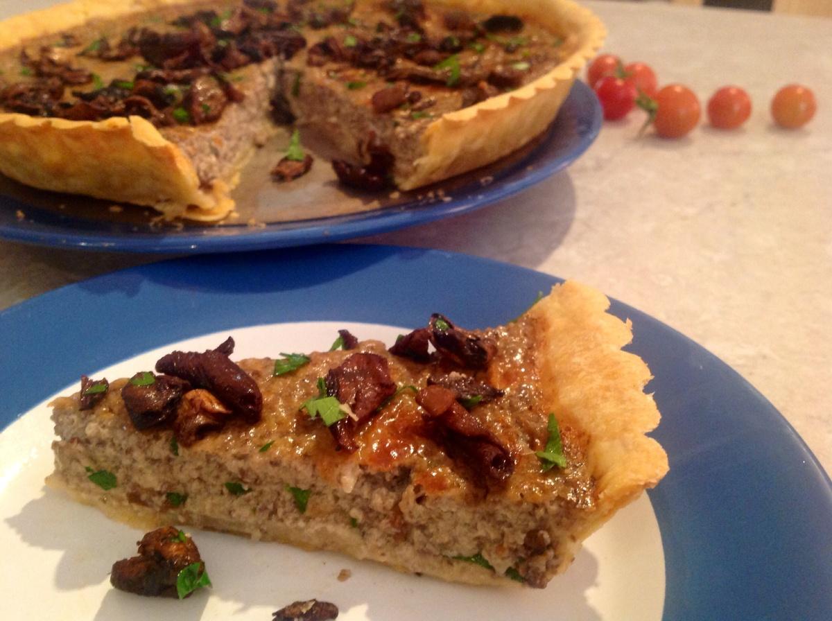 Wild mushroom tart(gluten-free)
