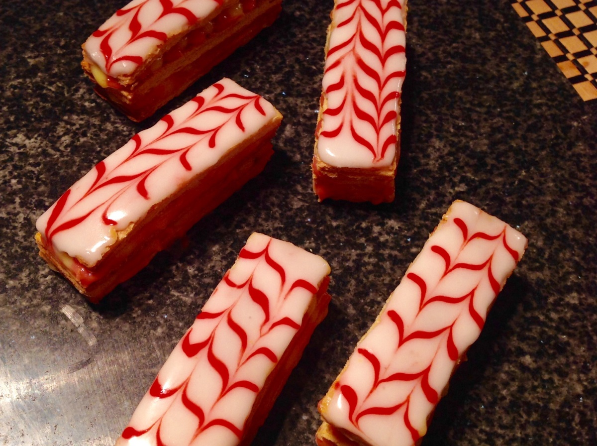 Passionfruit & strawberry custard slices (gluten-free)