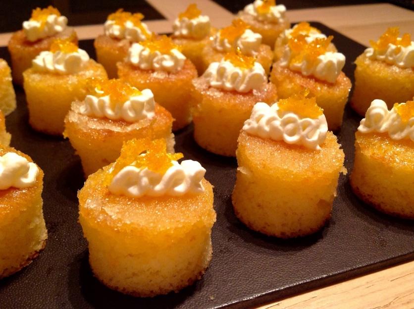 Orange & cardamom drizzle bites