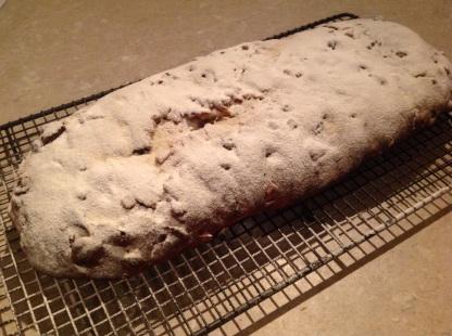 A liberal covering of vanilla icing sugar