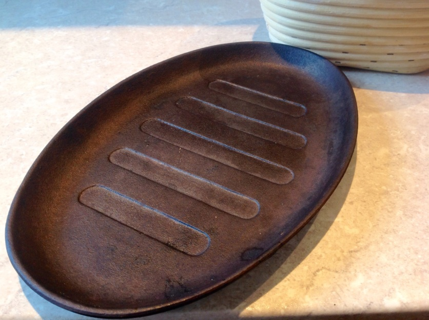 cast iron sizzle pan: perfect for baking sourdough on