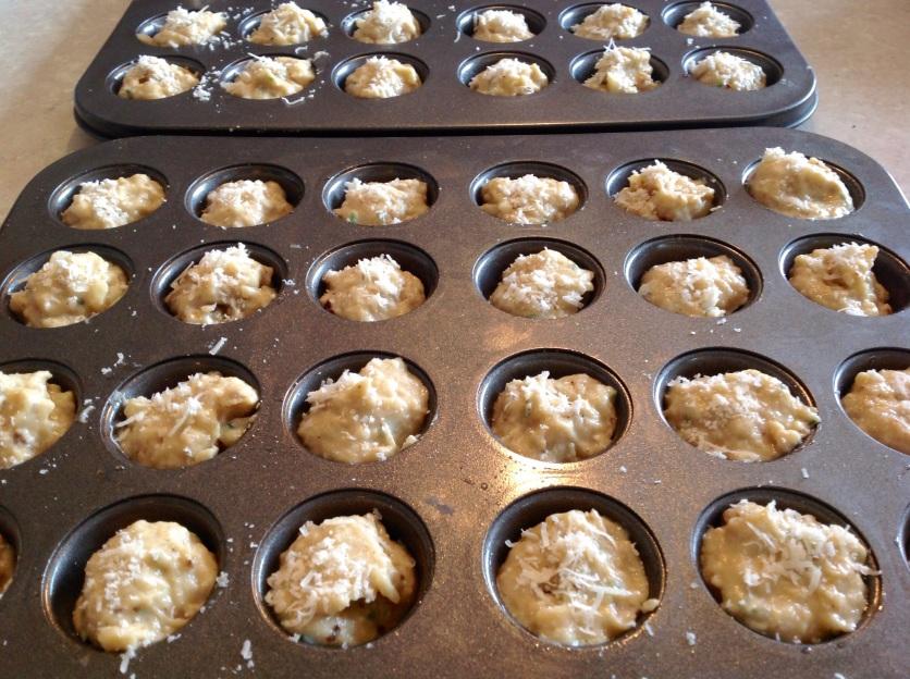 Cauliflower cheese & garlic bites