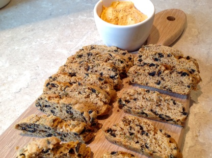Olive & rosemary biscotti