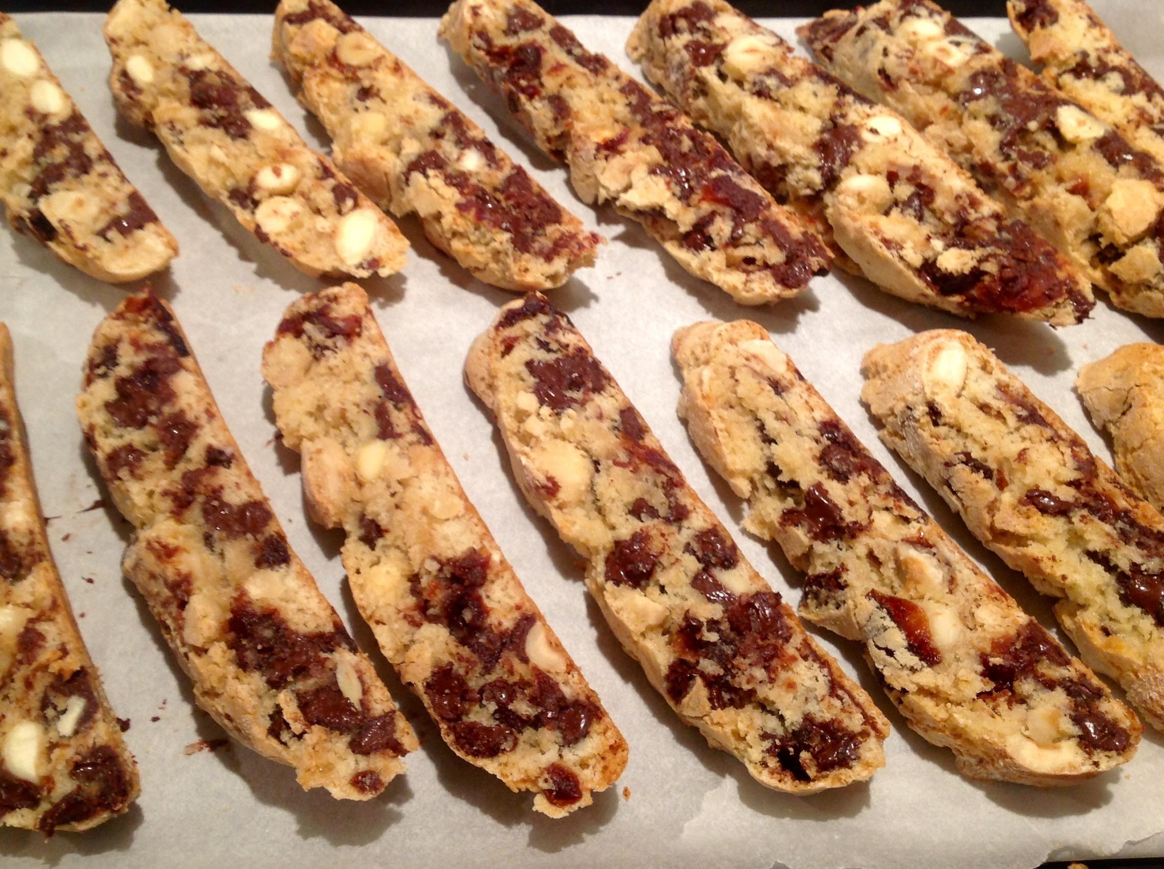 chocolate cherry & almond biscotti – Baking Fanatic
