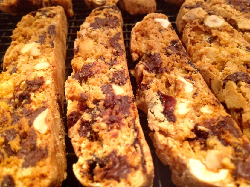 Chocolate, cherry & almond biscotti