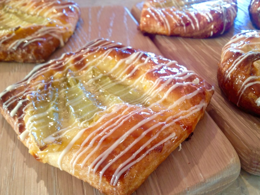 Quick and easy orange & rhubarb Danish pastries