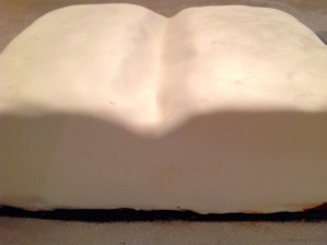 Thin layer of white fondant icing