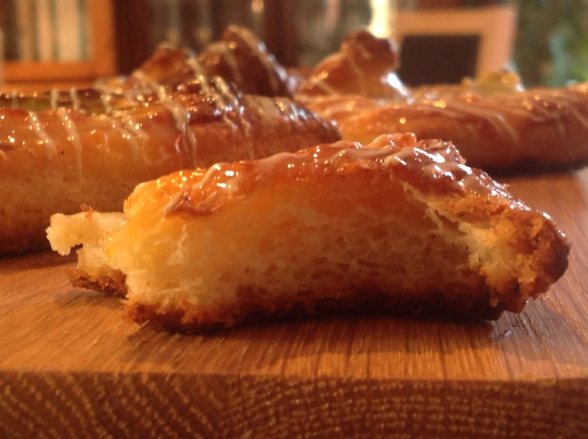 Quick and easy orange & rhubarb Danish pastries