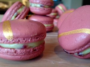 Orange & cranberry macarons