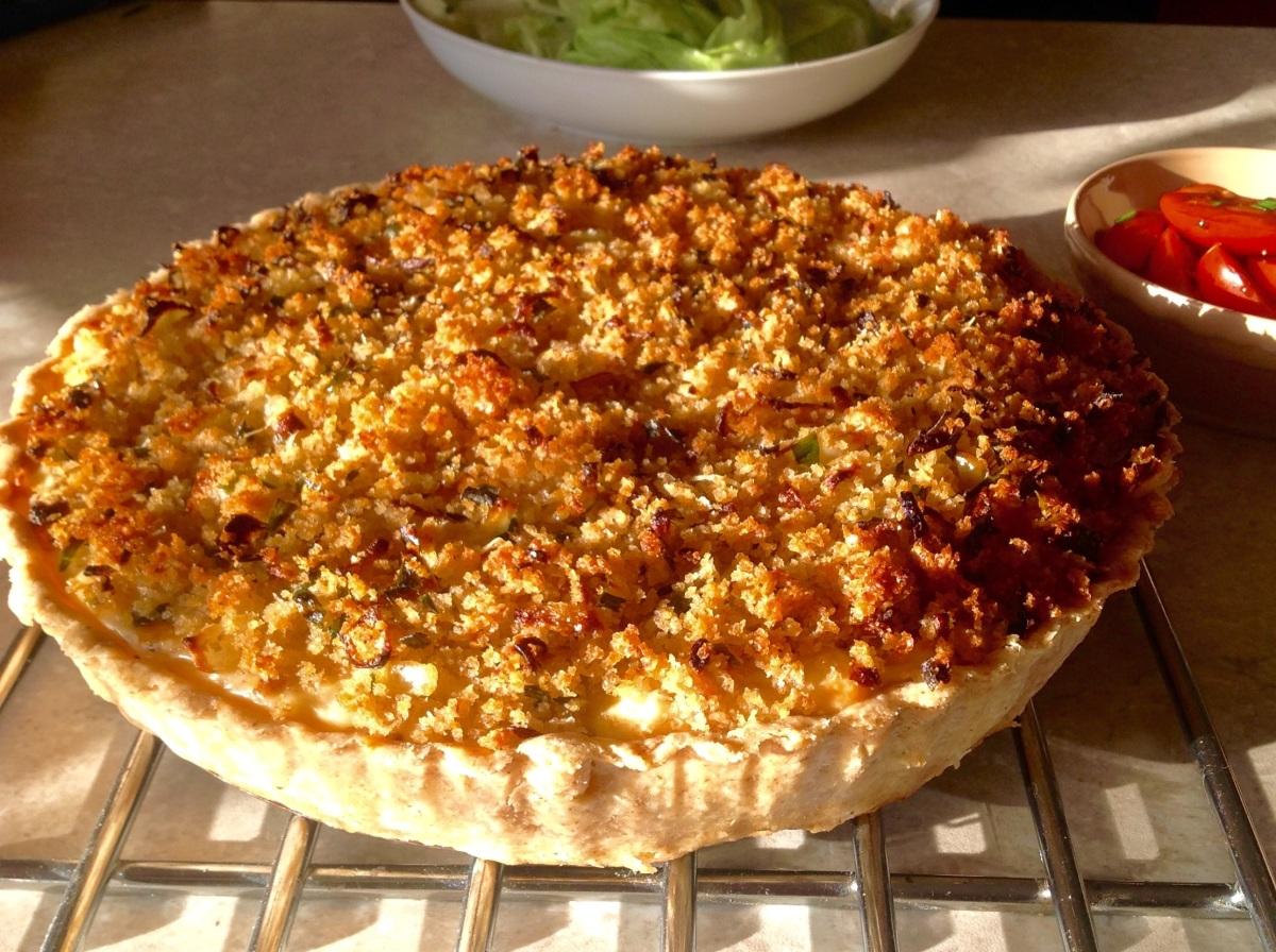 Roasted cauliflower cheesetart
