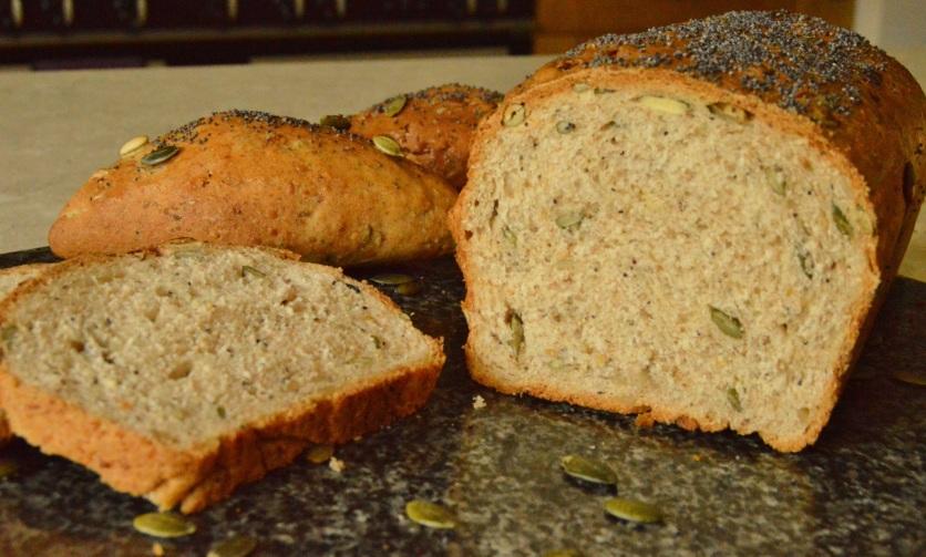 multi-grain bread with smoked flour