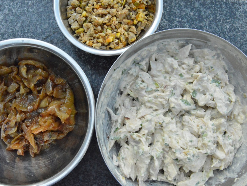 the components for the filling