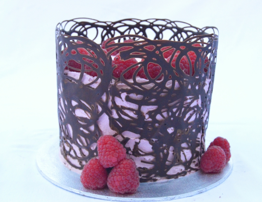 raspberry & dark chocolate cake