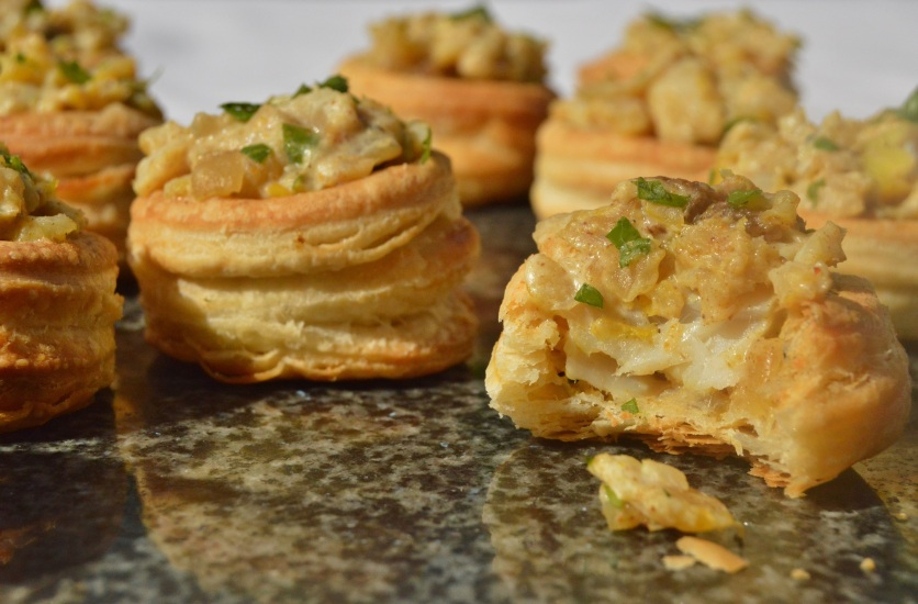 spiced smoked haddock vol-au-vents