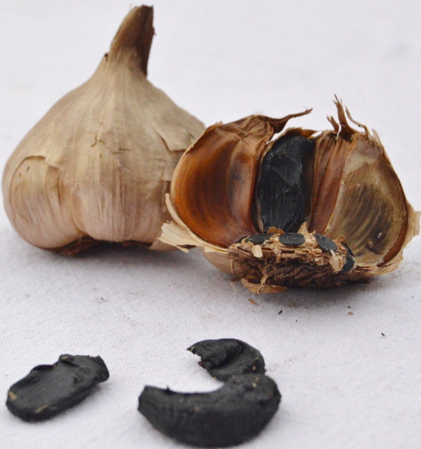 sticky, sweet black garlic