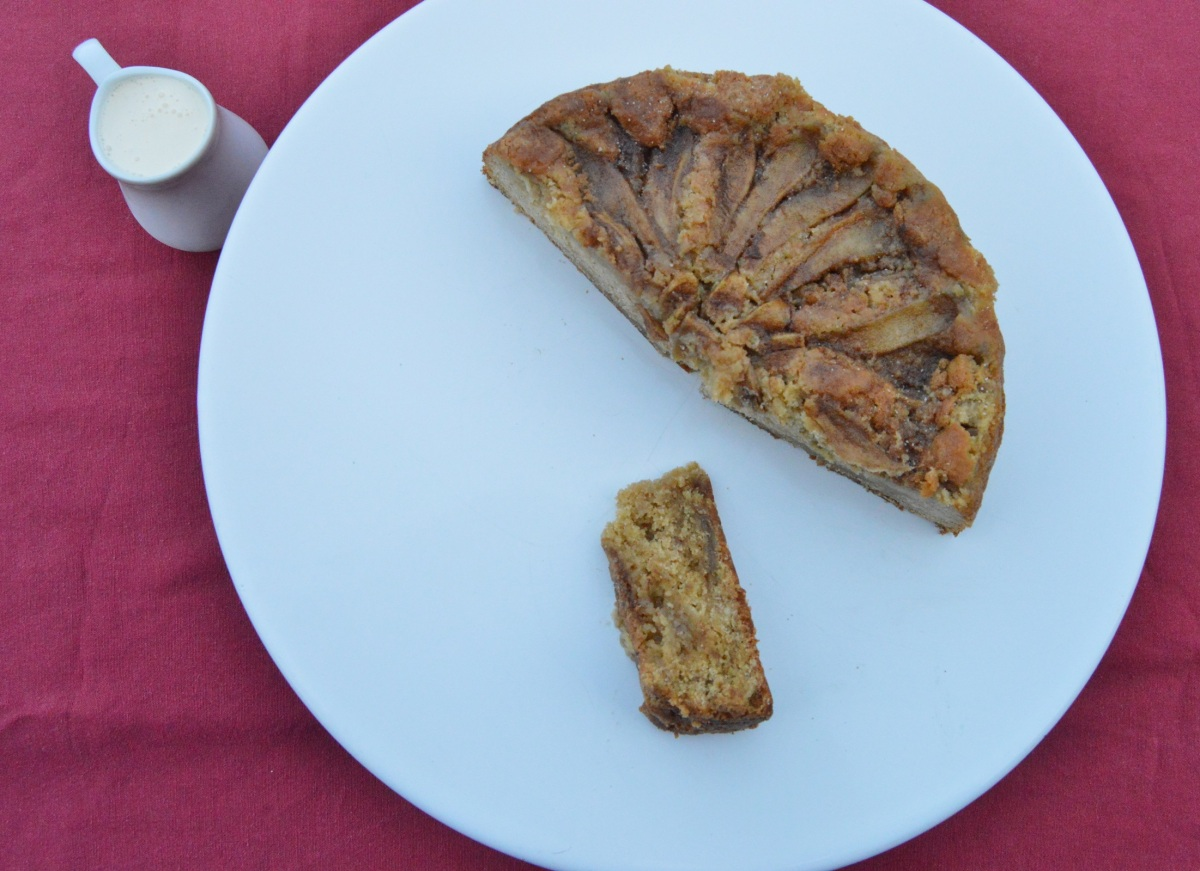 Spiced pear & ginger cake