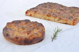 Roasted onion, chorizo & Parmesan focaccia