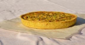 Spiced smoked cod & fennel tart