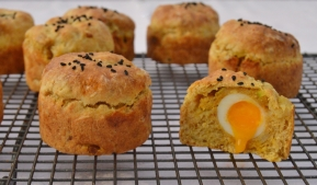 Spiced smoked haddock scones
