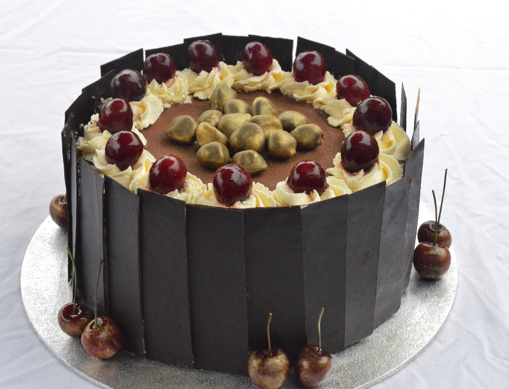 Black Forest Gateau With Caramel Glazed Cherries Phil S