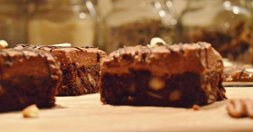 Gluten-free pecan & salted caramel truffle torte