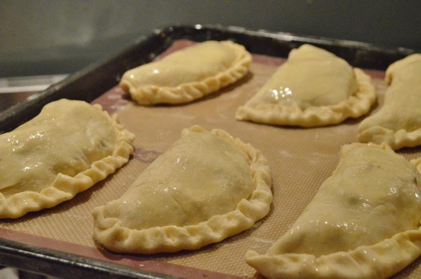 Cornish pasties - glazed & ready to bake