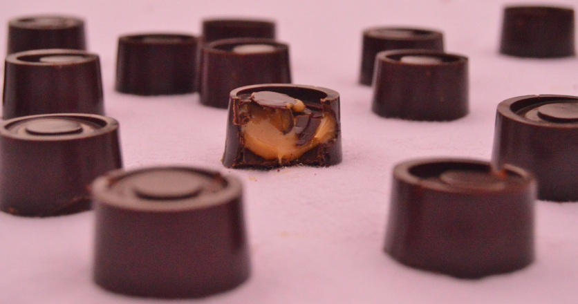 smoked sea-salted caramel chocolates
