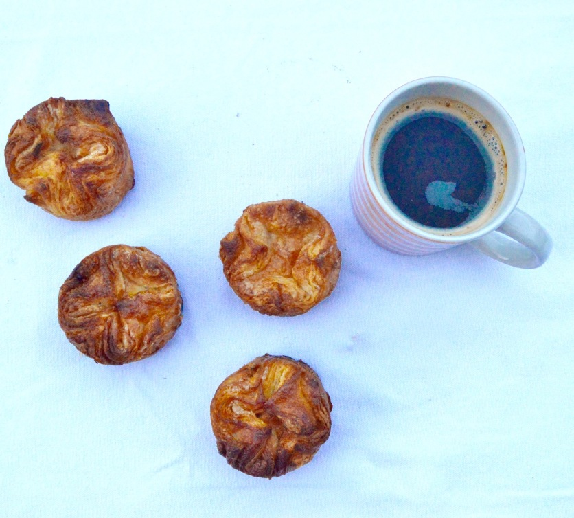 Traditional Kouign-Amann pastries