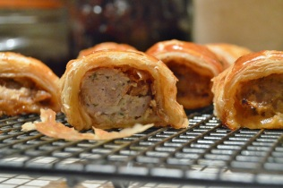 sausage rolls: light, buttery pastry & packed with flavour