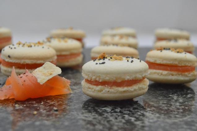 Savoury macarons smoked salmon horseradish bakingfanatic for Smoked fish near me