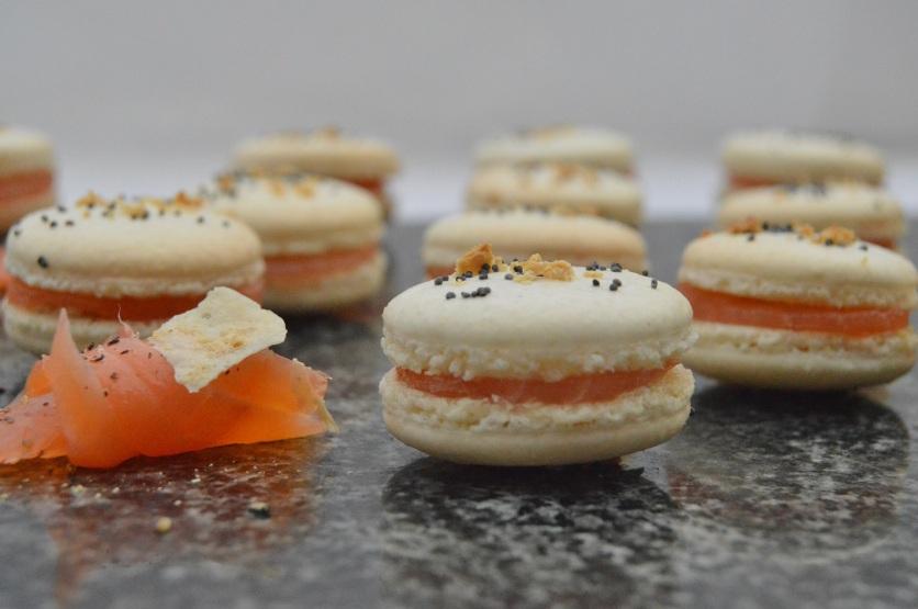 smoked salmon & horseradish macarons
