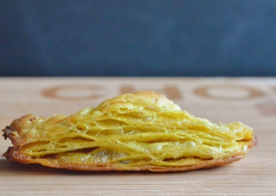 spiced rough-puff pastry (curry powder and turmeric)