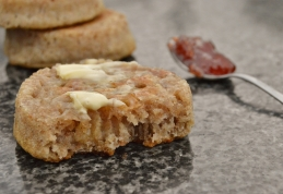 Wholemeal sourdough crumpets: hot, buttery, delicious!