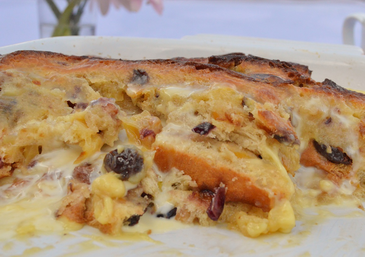 Easy spiced brioche pudding in a lemongrass custard