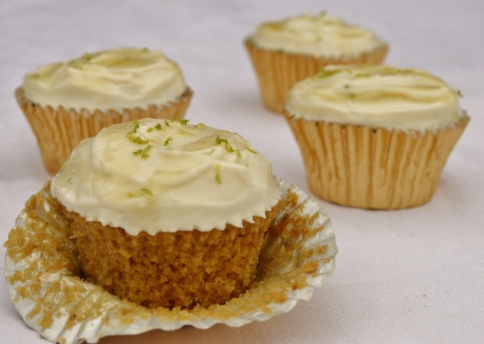 Galangal and lime cupcakes