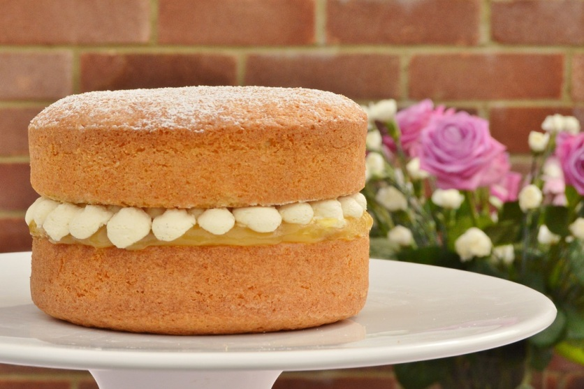 Lemon and vanilla Victoria Sandwich cake