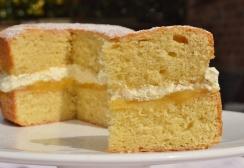 Lemon and vanilla Victoria Sandwich cake