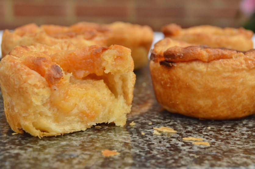 lemongrass custard tarts