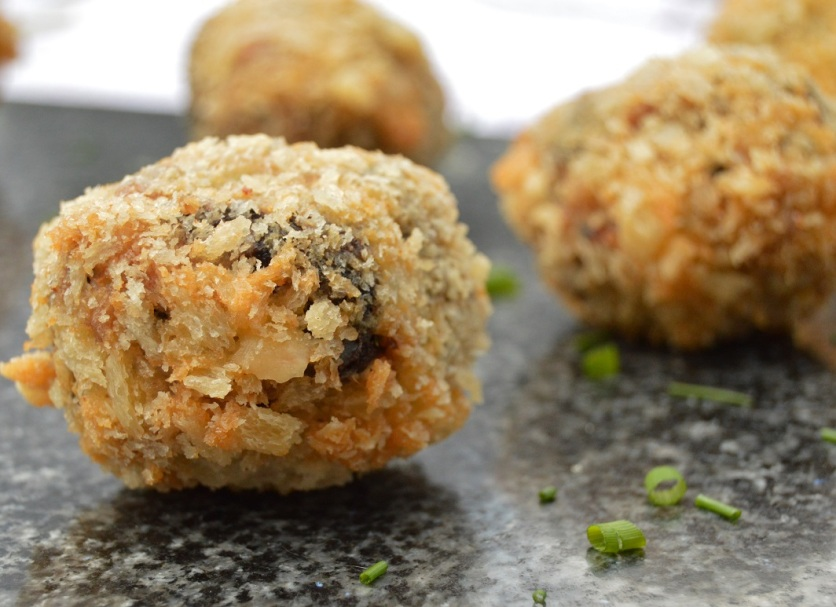 quail scotch eggs with black pudding