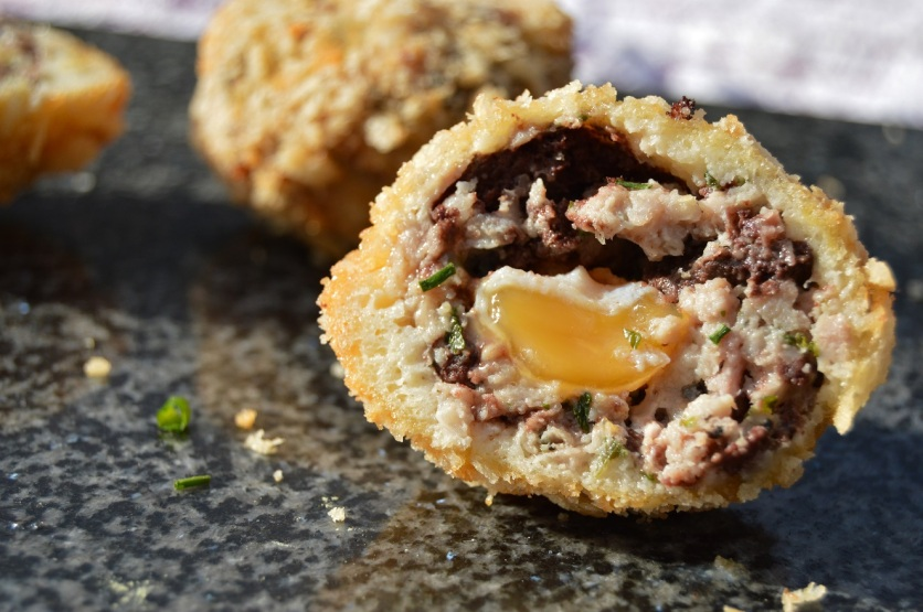 scotch quail eggs with black pudding