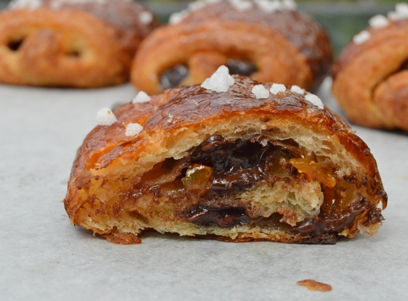 Bitter orange pains au chocolat