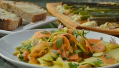 Carrot, cucumber & courgette salad